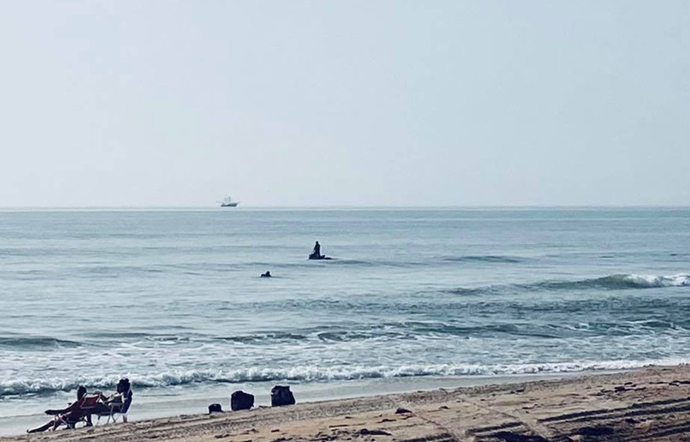 The Flagler Beach Fire Department and other agencies suspended the search for a swimmer who disappeared Wednesday afternoon. (Flagler Beach Fire Department)