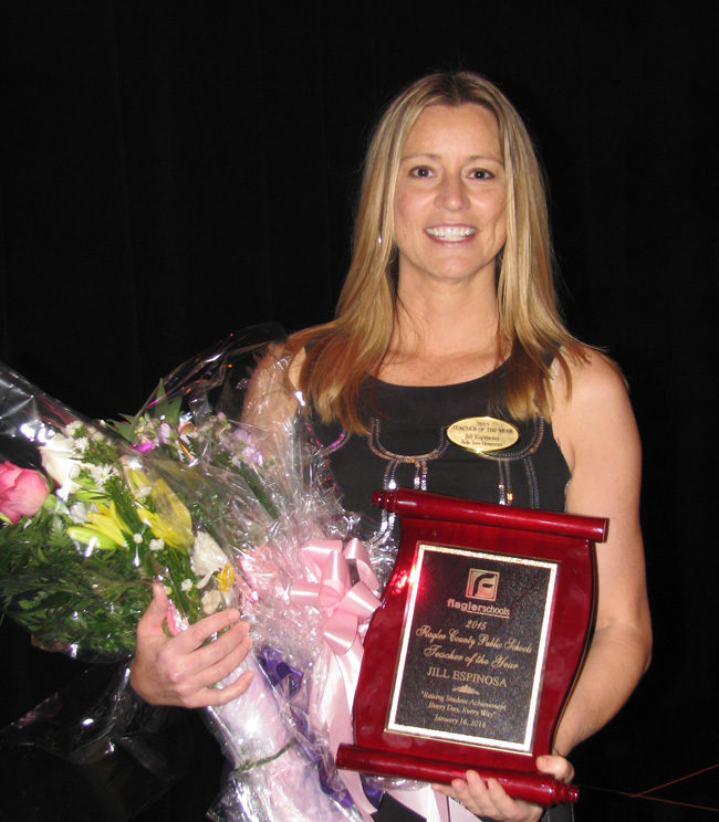 Jill Espinosa teaches at Belle Terre Elementary and is one of six finalists for Florida Teacher of the Year.