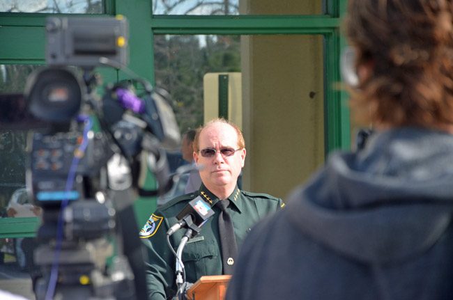 Some deputies have grumbled about Flagler County Sheriff Jim Manfre carrying a gun before his certification, which he attained only Friday, a year and a half into his second tenure as sheriff. (© FlaglerLive)