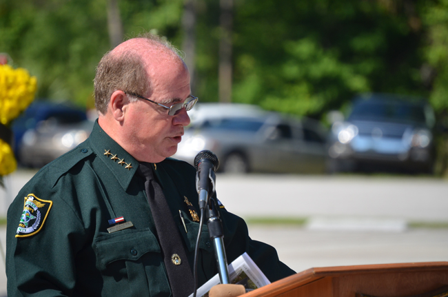 Flagler County Sheriff Jim Manfre continues to remake the agency he took over in January. (© FlaglerLive)