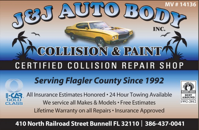 J&J auto body collision and paint shop bunnell free estimates