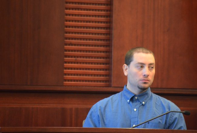 John J. Schenone took the stand in his own defense this afternoon. It did not help. (c FlaglerLive)