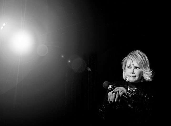 Joan Rivers in the black and white yonder. (Bob Jagendorf)