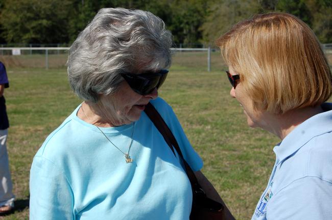 Mayor to Mayor: Joann B. King and Catherine Robinson. (© FlaglerLive)