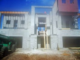 The multi-level house under construction, a project valued at $2.9 million. (FCSO)