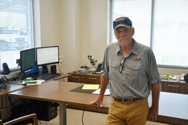Joe Cash was hired at the Mosquito Control district in December 1978. He's worked there almost uninterruptedly since. (© FlaglerLive)