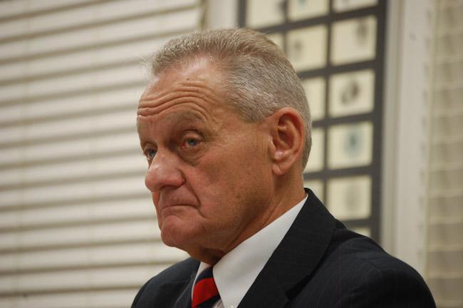 Flagler County School Board member John Fischer fights 'hate' with hate. (© FlaglerLive)
