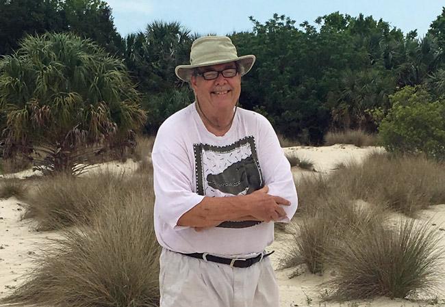 John Hankinson Jr. on an island along the Matanzas River last year. (Chris Kelly)