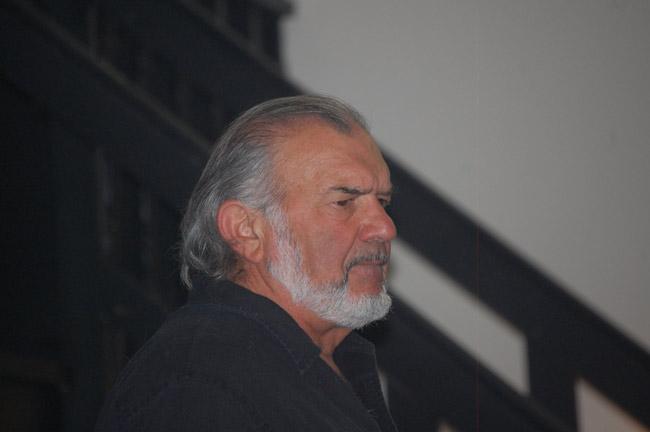 He wasn't happy about it: John Sbordone of City Repertory Theatre.