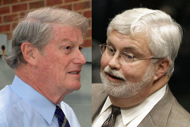John Thrasher, left, is giving up seeking the Florida Senate presidency as Jack Latvala lines up votes.