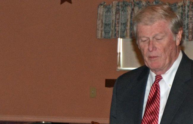 Sen. John Thrasher will be like everyone else. (© FlaglerLive)