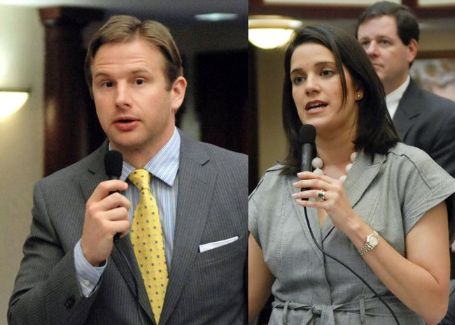Florida House Rep. John Tobia and Sen. Anitere Flores.