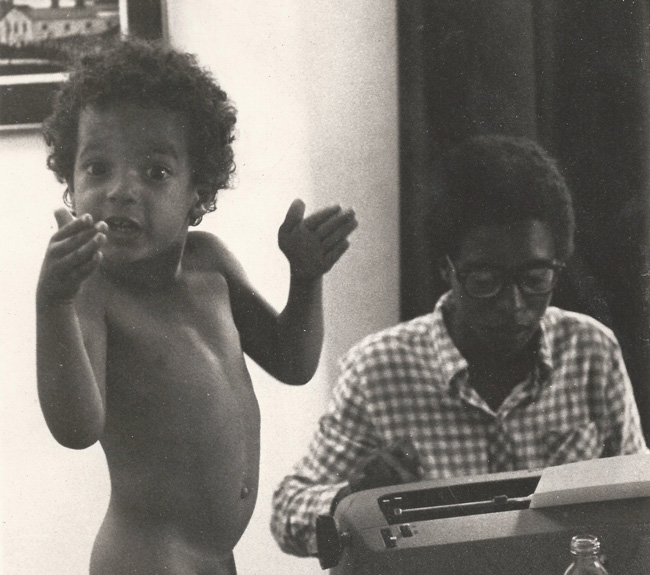 The author, left, as a young boy in Brooklyn. (Jon Hardison)