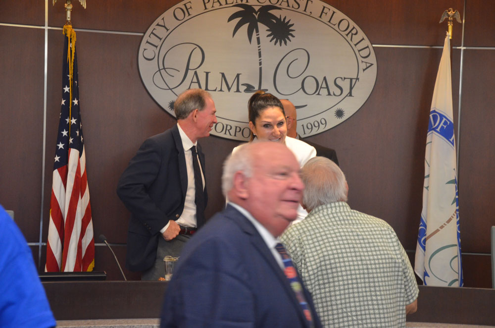 More than a shadow: Jon Netts, the former mayor, is a mong the three candidates the Palm Coast City Council will interview for a temporary appointment to the council. (© FlaglerLive)