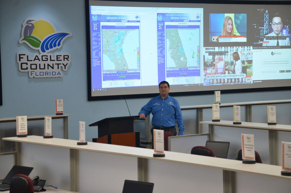 Flagler County Emergency Management Chief persisted, and secured 500 coronavirus test kits for the county. (© FlaglerLive)