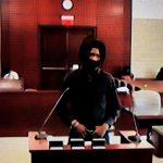 Joseph Washington in court on Monday, via Zoom. (© FlaglerLive)