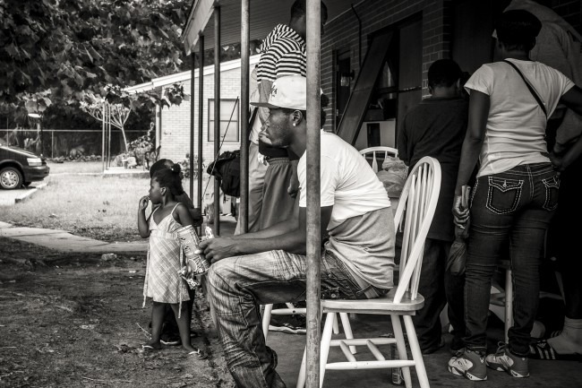 Josh McRae, waiting for the march. Click on the image for larger view. (© Jon Hardison/FlaglerLive)
