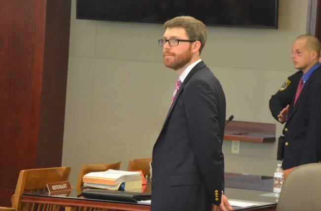 Assistant Public Defender Josh Mosley, above, is defending Bova with Matt Phillips. (© FlaglerLive)