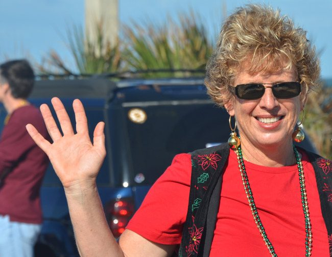 It may be for real this time: Joy McGrew is calling it quits on the Flagler Beach City Commission by next March. (© FlaglerLive)
