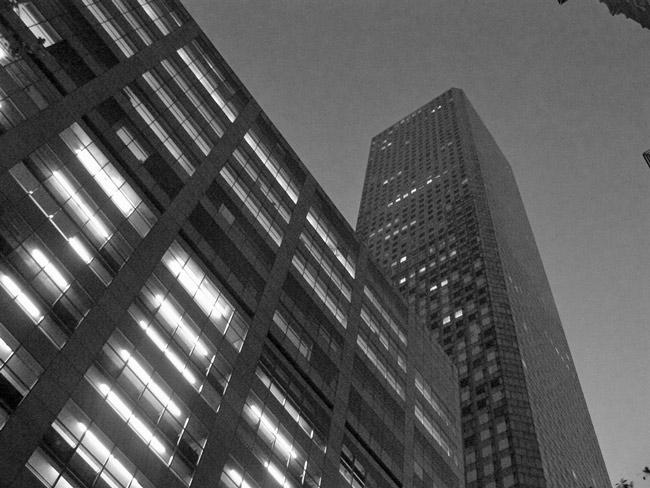 Night falls on JP Morgan. (mheisel)