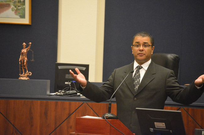 Judge Raul Zambrano in Flagler in 2011. He is the 7th Judicial Circuit's new Chief Judge. (© FlaglerLive)
