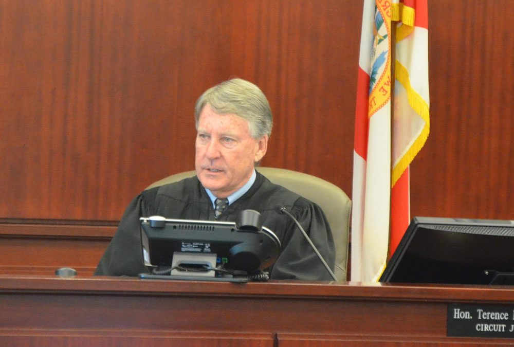 Circuit Judge Terence Perkins for the second time in five weeks on Tuesday defended his decision to deny Joseph Bova the right to represent himself during his trial on a first-degree murder charge at the end of September. Bova was found guilty and Perkins sentenced him to life in prison. (© FlaglerLive)