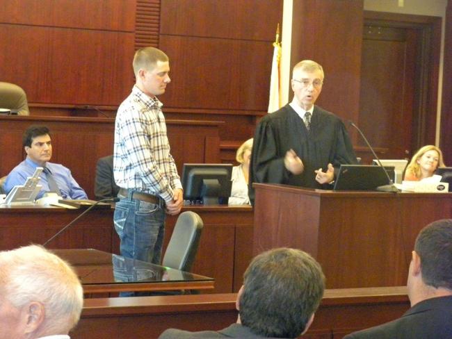 Flagler County Circuit Judge J. David Walsh presided over Drug Court graduation Friday. (© FlaglerLive)