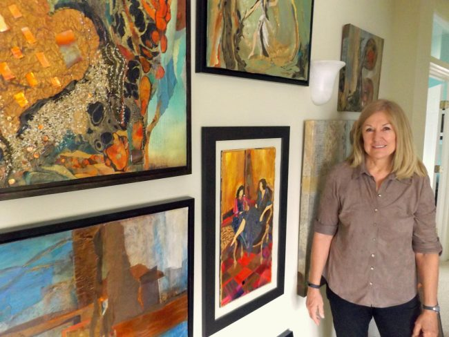 In praise of idleness: 'The notion that the desirable activities are those that bring a profit has made everything topsy-turvy,' Bertrand Russell once wrote. Judi Wormeck, the 2016 Flagler County Artist of the Year, agrees, putting it this way: 'Time you spend wasting is not wasted time.' Her work is on exhibit at Flagler Beach's Ocean Art Gallery starting Friday and for the next four weeks. (© FlaglerLive)