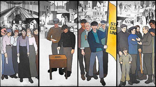 judy taylor mural labor history