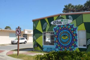 The Raw Juice Cafe across the street from City Hall. Click on the image for larger view. (© FlaglerLive)