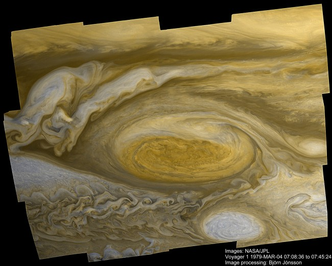 jupiter great red spot storm