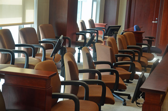 It took all day Monday to seat the jury in the Paul Miller trial. Three men and three women will form the all-white jury. Alternates include two men (one of them black)m and a woman. (c FlaglerLive)