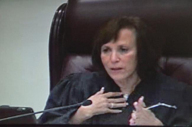Justice Barbara Pariente. (© FlaglerLive via Florida Channel)