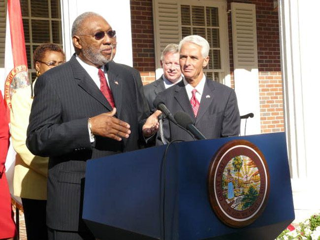 Justice James E.C. Perry was appointed by Gov. Charlie Crist in 2009. (Florida Memory)