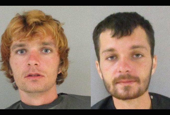 Two recent versions of Justin Taylor, who was rearrested Sunday.
