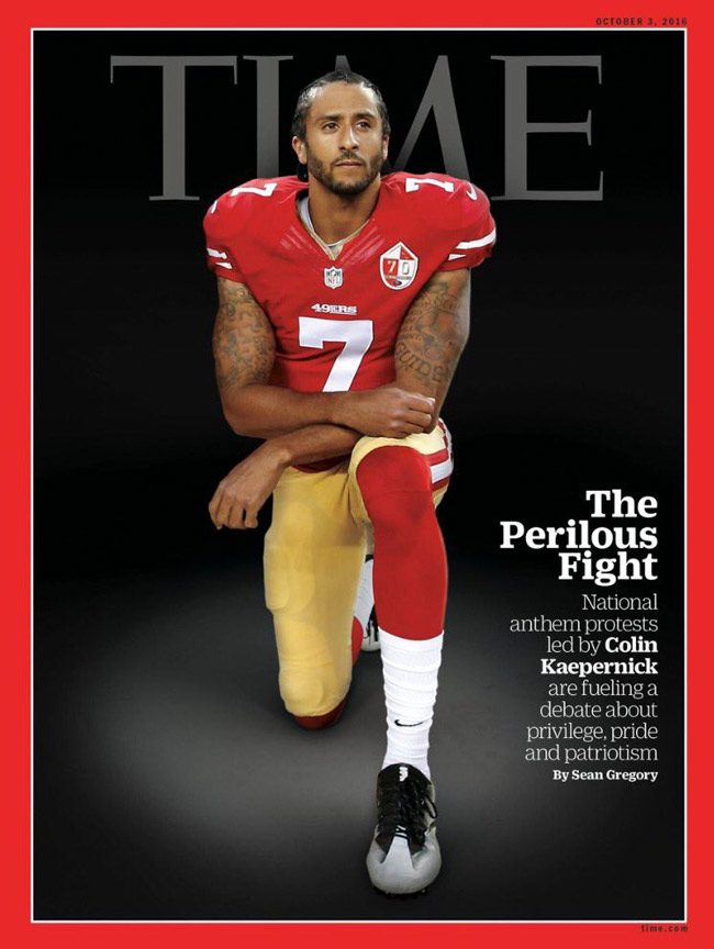 colin kaepernick time magazine cover national anthem