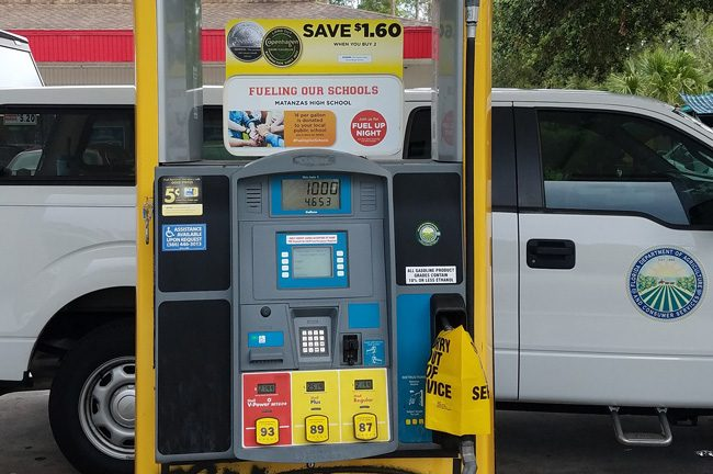 A Kangaroo station in Palm Coast was one of four stations on Palm Harbor Parkway and Palm Coast Parkway where credit card skimming devices were detected. (FCSO)