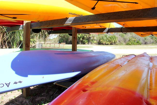 Kayaking at Gamble Rogers Recreation Area. (© FlaglerLive)