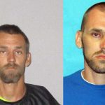 Kelsey Anderson in his recent Flagler County jail booking photo, left, and his state prison photo.