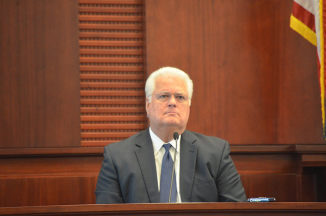 Speaking to reporters Tuesday morning, Secretary of State Ken Detzner, who was appointed by Gov. Rick Scott, said it's up to the Legislature and the Board of Executive Clemency to draft a blueprint for the amendment. (© FlaglerLive)