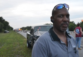 Ken Peoples witnessed the crash. Click on the image for larger view. (© FlaglerLive)