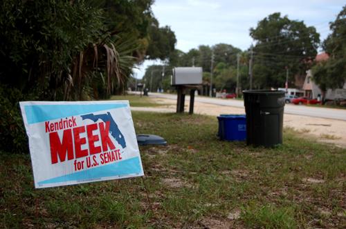 kendrick meek campaign sign rubio crist florida flagler