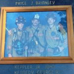 A family photo of John Keppler and his sons, also firefighters, at a state memorial honoring Keppler's line-of-duty death in 2002. (Keppler family)