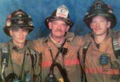 John Keppler Jr. and his sons, John and Andrew, who are lieutenants with Flagler County Fire Rescue.  (Andrew Keppler)