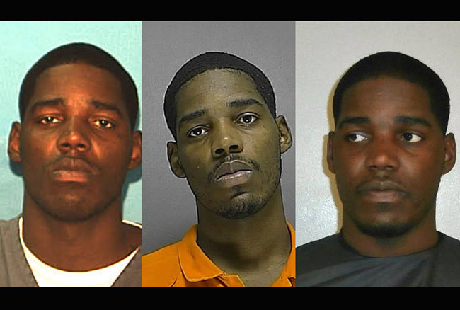 The different faces of Kevin Spearmon, including his mugshot from his stint in state prison. He was arrested again Thursday in Palm Coast.