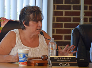 Flagler Beach City Commissioner Kim Carney. (© FlaglerLive)