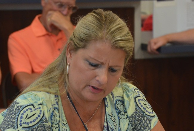 Kimberle Weeks may not appear the Florida Elections Commission's decision to dismiss her case against three commissioners. But she still has pending cases against them at the ethics commission. (© FlaglerLive)