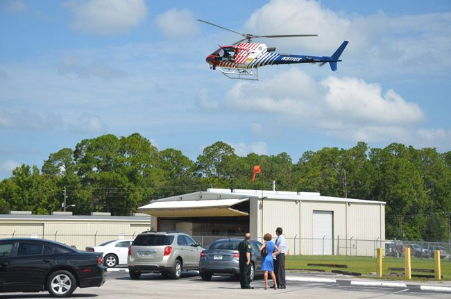 Kimble Aviation Logistical Inc. will move a segment of its operation into the hangar that used to house Flagler County Fire Flight, at the county airport. Fire Flight moved to a different hangar. (© FlaglerLive)