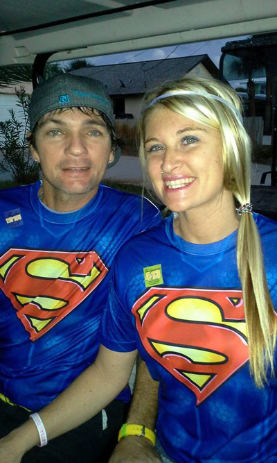 Shane and Kattie Kitchens in their Halloween outfits.