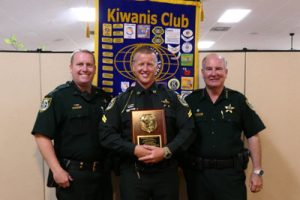 From left: Commander Jon Welker, Corporal Fred Gimbel, Sheriff Rick Staly.
